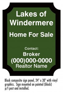 low realtor sign standard